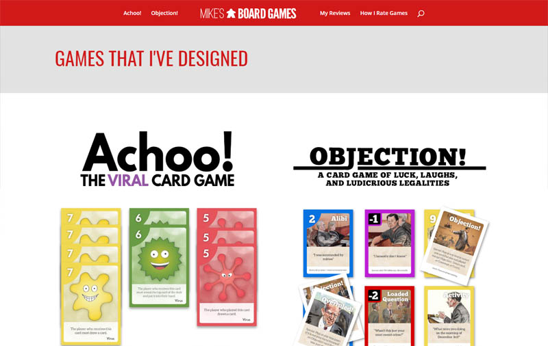 Full Stack Web Development Example--Mikes Board Games