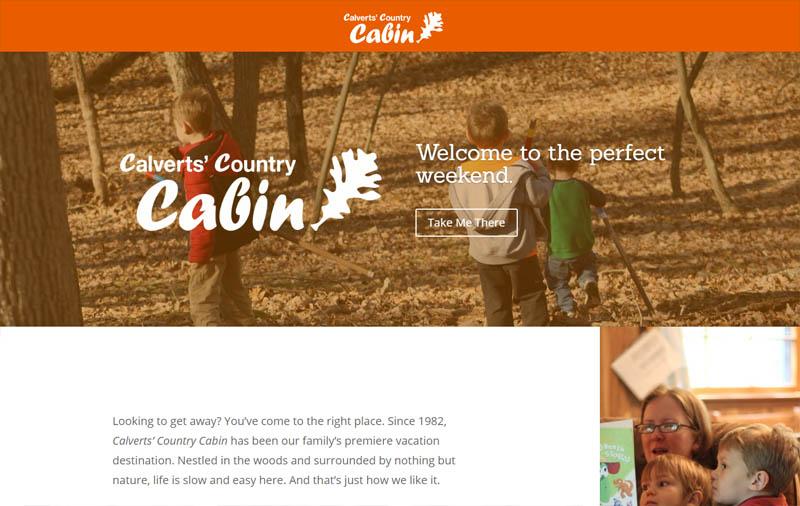 Calvert Country Cabin | Web Design and Logo