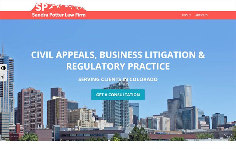 Sandra Potter Law Firm | Website & Logo
